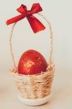 Uovo rosso Fotografia Stock Libera da Diritti