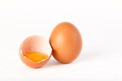 Uovo rotto Fotografia Stock