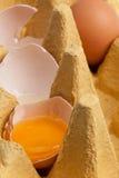Uovo rotto Fotografie Stock