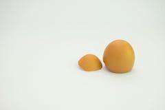 Uovo rotto isolato Fotografie Stock