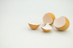 Uovo rotto isolato Fotografia Stock