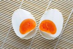 Uovo salato isolato fotografia stock