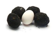 Uovo salato su fondo bianco Fotografia Stock