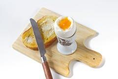 Uovo sodo e pane tostato Immagini Stock Libere da Diritti