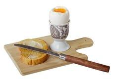 Uovo sodo e pane tostato Immagine Stock Libera da Diritti