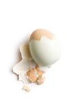 Uovo sodo sbucciato fotografia stock
