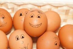 Uovo sorridente Fotografia Stock Libera da Diritti