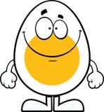 Uovo sorridente del fumetto Fotografia Stock