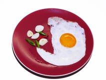 Uovo su un fondo bianco Immagini Stock