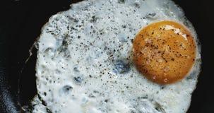 Uovo sulla pentola calda stock footage