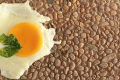 Uovo sulla roccia Fotografia Stock