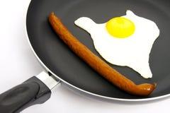 Uovo sulla vaschetta. Fotografia Stock