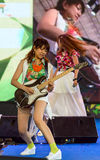 Uozumi Yuki (гитара) от группы LoVendor Стоковые Изображения RF