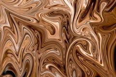 Upłynnia abstrakta wzór Z Brown, bielem I Popielatym grafika koloru forma sztuki, Cyfrowego tło Z Liquifying przepływem ilustracja wektor