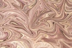 Upłynnia abstrakta wzór Z LightPink I Seashell grafika koloru forma sztuki Cyfrowego tło Z Liquifying przepływem ilustracja wektor
