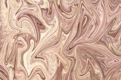 Upłynnia abstrakta wzór Z LightPink I Seashell grafika koloru forma sztuki Cyfrowego tło Z Liquifying przepływem royalty ilustracja