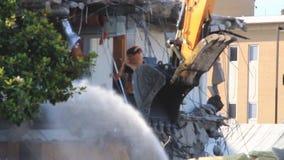 upływ budynek w fazach końcowych rozbiórka zdjęcie wideo