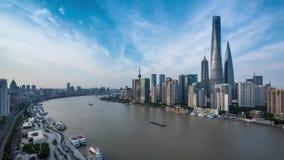 Upływ fotografia bund w Szanghaj zbiory