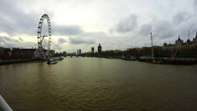 Upływ London Eye, Londyn, Zjednoczone Królestwo zbiory wideo