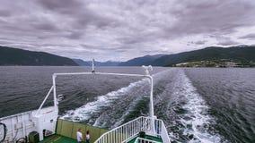 Upływ transportu prom w Norwegia zbiory wideo