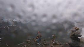 Upływ widok na Geirange w Norwegia zbiory wideo