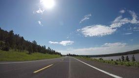 upływu Przedni patrzeć widok samochodowy jeżdżenie zbiory wideo