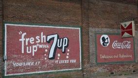 7-up、可口可乐和百威的广告 免版税库存图片