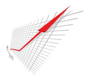 Up!. Vector line growing up to success Royalty Free Stock Photography