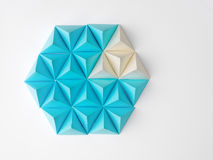 Up. Abstract tetrahedron pie chart background. Copy space available. Usefull for business and web Royalty Free Stock Photos