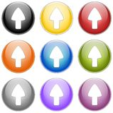 Up arrow. Set of arrow in circle, created with inkscape stock illustration