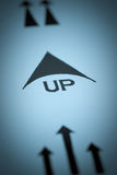 Up arrow Royalty Free Stock Images