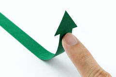 Up arrow Stock Image