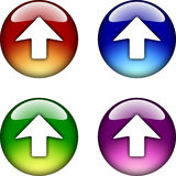 Up Arrow glossy button icon Stock Image