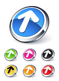 Up arrow icon. Clipart illustration Royalty Free Stock Images