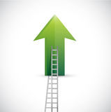 Up arrow and ladder illustration design Stock Images