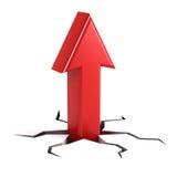 Up arrow. Success concept - 3d render Stock Photography
