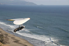 Up and Away. Hang gliding over the ocean south of San Francisco Stock Photography