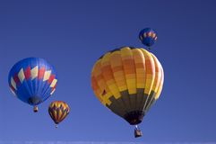 Up and away 2. An image of multiple hot air balloons stock photography