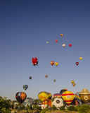 Up and away they go Royalty Free Stock Photo