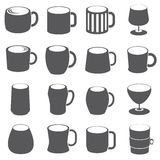 Up and beverage icons Royalty Free Stock Image