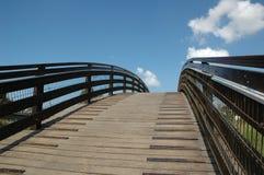 Up the bridge II. View up to the bridge Stock Photography