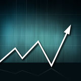 Up. Business arrow graphic moving up. world crisis vector illustration