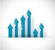 Up business arrow graphs illustration design Royalty Free Stock Photo