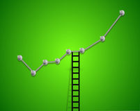 Up business graph and ladder concept. Illustration design Stock Photography