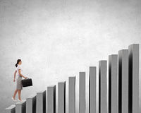 Up the career ladder Royalty Free Stock Images