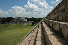 Up from Chichen Itza pyramid Royalty Free Stock Image