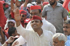 UP Chief Minister Akhilesh Yadav  in Varanasi. Stock Image