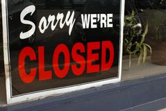 Business Is Closed Today Stock Photo
