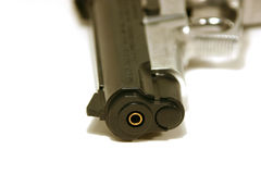 Up Close on a Gun Royalty Free Stock Photo