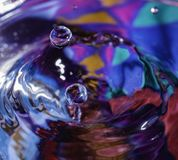Water droplet freeze time stock image